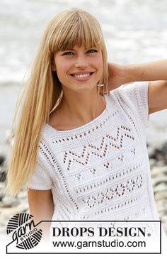 Crochet Wig Pattern, Knit Cardigan Pattern, Knit Crochet, Knitting Paterns, Lace Knitting, Knitting Designs, Drops Design, Summer Knitting, Crochet Clothes