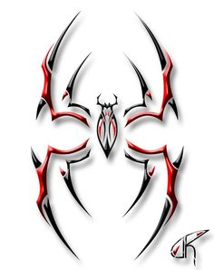 The best black and red tribal spider. Tattoo Son, Back Tattoo, Chest Tattoo, Tribal Tattoos, Body Art Tattoos, Sleeve Tattoos, Pinstripe Art, Spider Tattoo, Best Tattoo Designs