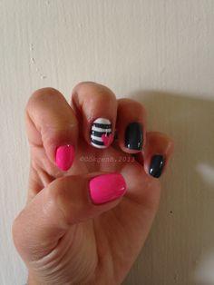 Pink/Black Nails