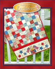 Fabric Focus | American Bouquet by Faye Burgos for Marcus Fabrics Great little 4th of July quilt