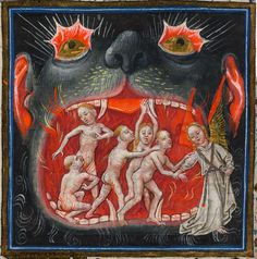 Hellmouth: Miniature from the Hours of Catherine of Cleves, Netherlands, circa. 1440