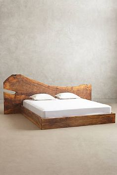 Live Edge Wood King Bed - $798