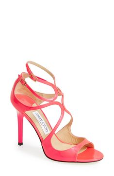 Love these pink Jimmy Choo sandals!