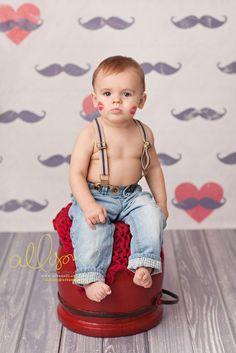Photography Backdrops Mustache Valentine's Day, Vinyl Background Newborn Child #HSDBackdrops