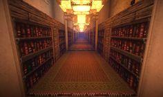 library bookshelf bookshelves hallway arabic pattern repetition