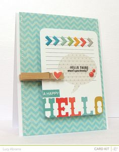 aren't you lovely by Lucy Abrams, via Flickr; love the journal card