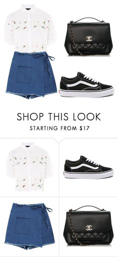 """""""⬜⬜"""" by alishabbarton on Polyvore featuring Topshop, Vans and Chanel"""
