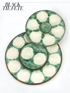 Nineteenth-century English/Irish Majolica oyster set, $3,750rauantiques.com
