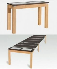 1000 images about salle manger on pinterest consoles - Table console extensible noir ...