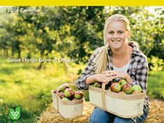 2014 Foodland Ontario Calendar photographed here at Albion Orchards. Christmas Tree Farm, Orchards, Apple Tree, Farm Life, Ontario, Things To Do, Calendar, Pumpkin, Recipes