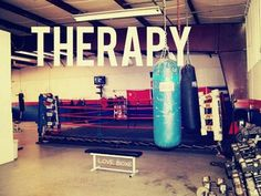 Therapy...seriously there is nothing better than hitting up the gym to relieve stress, punching bags...one of the greatest inventions of all times.