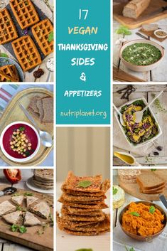 17 Gluten-Free Vegan Thanksgiving Sides & Appetizers from breads, crackers and hummus to soups, salads and oil-free dressings. Enjoy the holidays! Vegan Thanksgiving, Thanksgiving Sides, Plant Based Diet, Vegan Gluten Free, Crackers, Hummus, Dressings, Whole Food Recipes, Soups