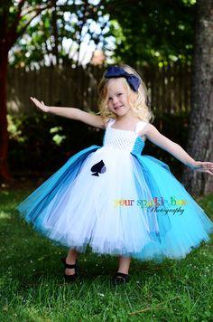Alice in Wonderland Costume Tutu Dress and di YourSparkleBox, $94,95