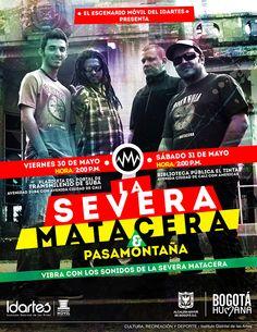 Afiche La Severa Matacera. Diseño: Daniel Roa. Bogotá, 2014.