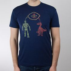 Dino Byte Tee Men's Navy, 16€, now featured on Fab.