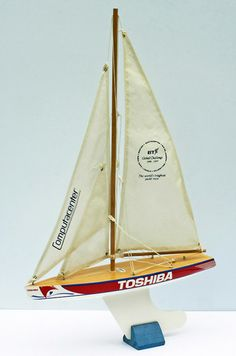 """A rare """"Toshiba"""" advertising model yacht by Skipper Yachts."""