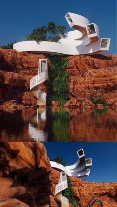 Conceptual Architecture, Architecture Building Design, Minimalist Architecture, Futuristic Architecture, Amazing Architecture, Interior Architecture, Earthship Home, Mix Use Building, Canopy Design