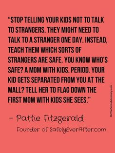 "Child safety and how you should teach your kids about tricky people. ""Tricky"" is the new ""stranger"" term. i hate when people insist that their kids not talk to strangers plus it only teaches their kids to assume the worst out of others Parenting Done Right, Kids And Parenting, Parenting Hacks, Peaceful Parenting, Parenting Quotes, Future Mom, Useful Life Hacks, Child Safety, Raising Kids"