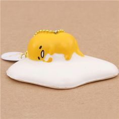 cute Gudetama egg yolk sleeping holding egg white squishy charm kawaii 1