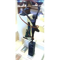Alfred Tibor Sculpture Ribbon Dancer, Bronze. Available at Argo & Lehne Jewelers.