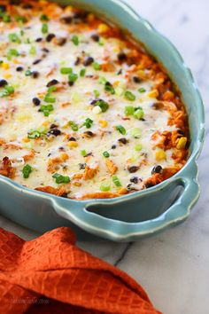 9 SP - This Mexican inspired casserole is made with spiralized sweet potatoes, shredded chicken, black beans and corn in a delicious guajillo pepper sauce topped with melted Pepper Jack cheese – SO good, and the portions are very generous! Ww Recipes, Mexican Food Recipes, Dinner Recipes, Cooking Recipes, Healthy Recipes, Skinnytaste Recipes, Skinnytaste Cookbook, Fixate Recipes, Mexican Sweet Potatoes