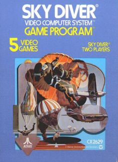 Atari 2600 SKY DIVER - CX2629, 1978, Instruction booklet and '81 Rev C catalog included, both NM. Box in excellent condition. $12