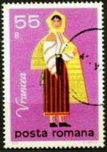 Rumanía-Traje Folclórico Femenino de Vrancea