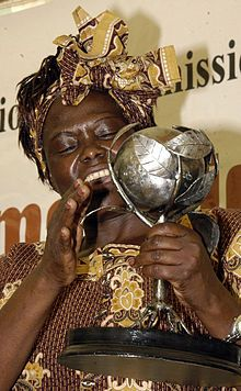 Wangari Maathai - The First African Woman & the First Environmentalist to win the Nobel Peace Prize in 2004.  She founded the Green Belt Movement which helps the environment and fosters women's rights.