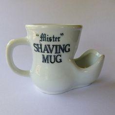 "Vintage ""Mister"" Shaving Mug in Boot shape - scuttle mug.I have one of these!"