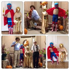 Nacho Libre themed costumes. Nacho, Ramses, and Nacho in his recreational clothes. (The nerd is just random lol.)
