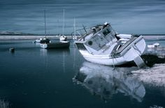 Infrared Photographs of Old Wooden Boats