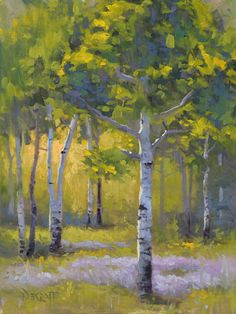 Populus Tremula by Larry DeGraff Oil ~ 12 x 9