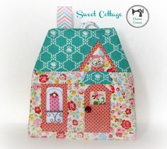 (9) Name: 'Sewing : Mini Cottages, Paper piecing Ornament/Sa