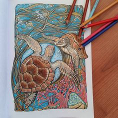 "Páči sa mi to: 54, komentáre: 8 – Stanka (@stanislava007) na Instagrame: ""Turtles are completed. It took me almost week, but I really enjoyed. Manic Botanic, Irina Vinnik.…"""