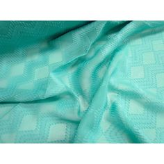 Spearmint Waves Embroidered Chiffon Print Chiffon, Chiffon Fabric, Fabrics, Waves, Prints, Tejidos, Ocean Waves, Cloths, Fabric