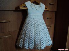crochet vestido blanco para el pequeño ángulo - artesanías Ideas - manualidades para niños