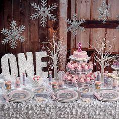 Pink Winter ONEderland Party Supplies First Birthday Wonderland Parties