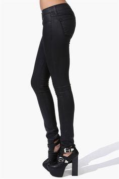 Wax On Skinny Jeans in Black