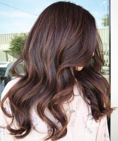 Long Dark Brown Hair With Subtle Highlights