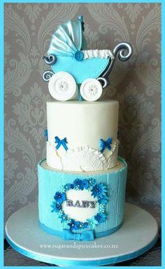 Vintage Baby Shower Cake by Mel_SugarandSpiceCakes