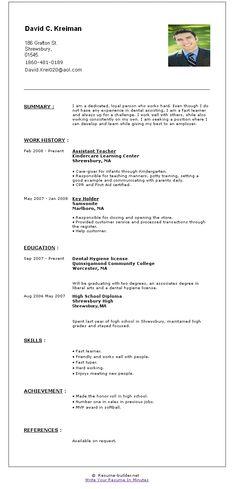 job resume builder
