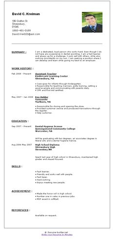 resume builder free online httpwwwjobresumewebsiteresume - Resume Bulder