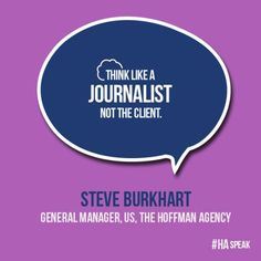 Think like a journalist, not the client - #PR #tip #communications