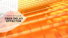 Über Delay Effector for Cinema 4D Tutorial. Instead of having to be limited to choosing just one Delay mode (Spring, Blend, Even), you can now apply all three modes using a single Über Delay effector!  By stacking multiple Delay modes, you unlock a ton of animation possibilities and allows you to achieve, for example, smoothed springiness and allows for much finer control over your blended animations created with the Delay modes.