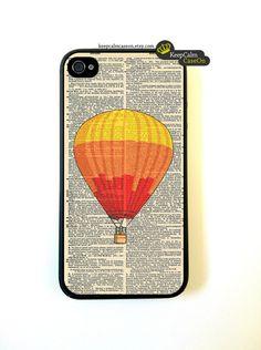 iPhone 4 Case, Vintage Balloon iPhone Case Hard Fitted Case For iphone 4 & iphone 4S.. $15.00, via Etsy.