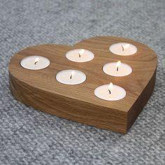 centrepiece heart tea light holder by a+b furniture | notonthehighstreet.com #woodworkingideas
