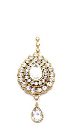 Strong-Willed Indian Handmade Wedding Fashion Jewelry Gold Plated Women Ethnic Earring Tikka Firm In Structure Jewelry & Watches