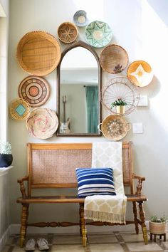 9 Beautiful Boho Wall Decor Ideas • One Brick At A Time