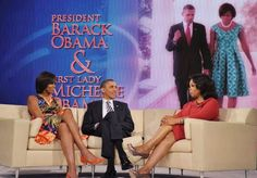 The President and First Lady visit Oprah in 2011.