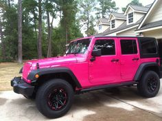 Pink Jeep ill take it !!!!! My daughter's future vehicle ;-)